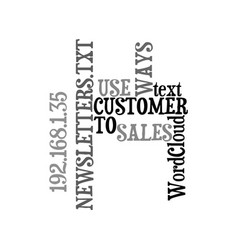 ways to use customer sales newsletters text word vector image