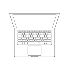 Outlined laptop vector image vector image