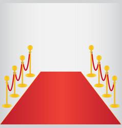 red carpet ceremonial vector image