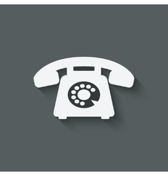 retro phone symbol vector image