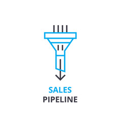sales pipeline concept outline icon linear sign vector image
