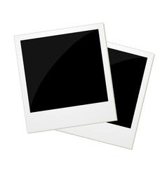 Two polaroid photos vector image vector image