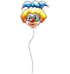 A clown balloon with an eyeglass vector