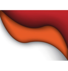 Abstract red and orange liquid vector