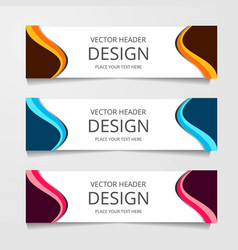 Abstract web banner design template collection of vector