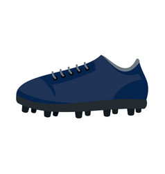 American football shoes icon flat style vector