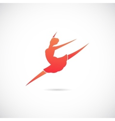 Ballet Dancer Silhouette Symbol Icon or Label vector image