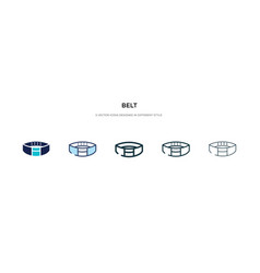 belt icon in different style two colored vector image