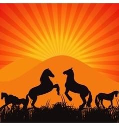 Black Horse Silhouette vector image