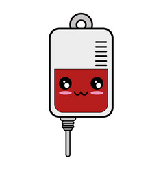 Blood bag donation kawaii cartoon vector