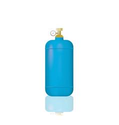 blue medical oxygen cylinders vector image