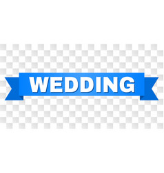 Blue stripe with wedding text vector