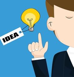 Businessman with light bulb idea concept vector image vector image