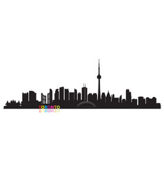 Canada city skyline toronto landmarks travel vector