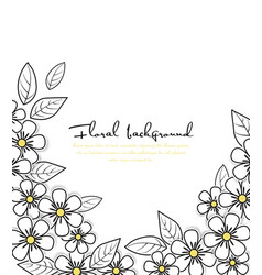 card floral background vector image