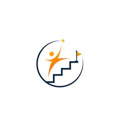 career coaching logo design template image vector image