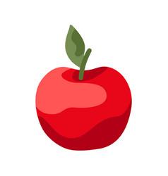 Cartoon ripe apple vector