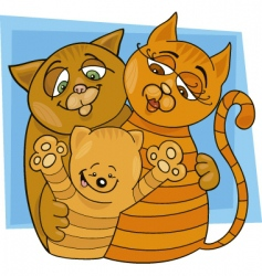 cats family vector image