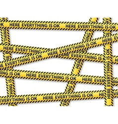 Caution tape concept vector