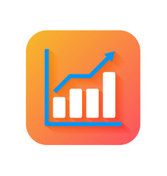 chart business growth analytic icon modern icon vector image