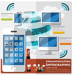 Communication And Connection Infographic vector