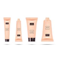 Cosmetic plastic tube foundation cream container vector