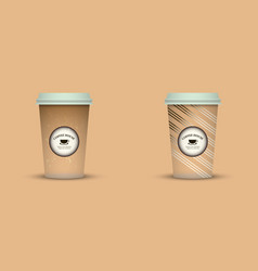 Creative coffee cups coffee sleeve coffee mug vector