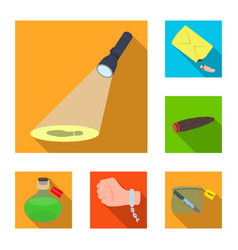 detective agency flat icons in set collection for vector image