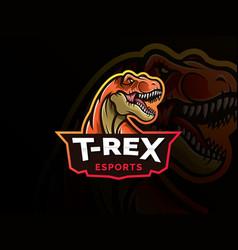 Dinosaur sport mascot logo design vector