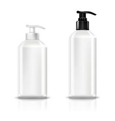 dispenser pump plastic bottle white vector image