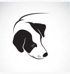 dog head design on white background pet vector image