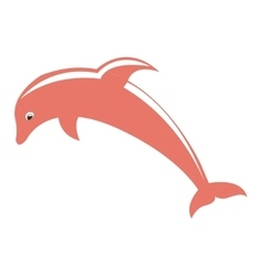 Dolphyn pink fish isolated vector