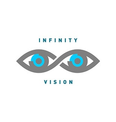 eyes in infinity sign shape logo vector image