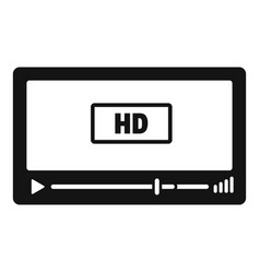 film hd playing icon simple style vector image