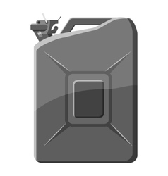 Flask for gasoline icon gray monochrome style vector