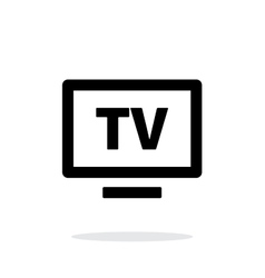 Flatscreen TV simple icon on white background vector image