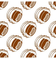 Flying rugby balls seamless pattern vector image vector image
