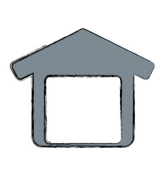Garage door house vector