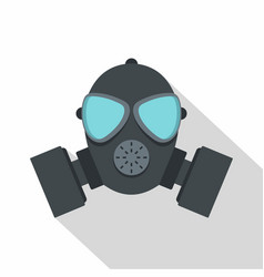 Gas mask icon flat style vector