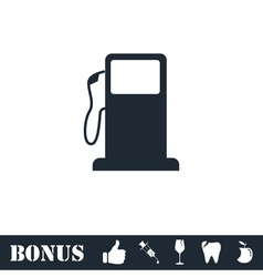 Gas station icon flat vector