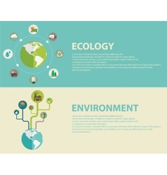 Green energy and pollution vector image