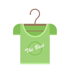 Green T-shirt on Hanger vector image