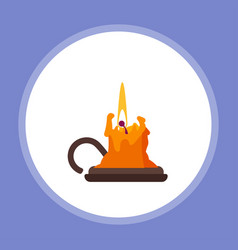 halloween candle icon sign symbol vector image