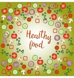 Healthy food hand drawn lettering phrase vector