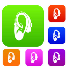 Hearing aid set collection vector