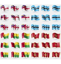 Herm botswana guineabissau montenegro set of 36 vector