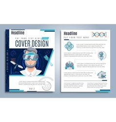 Hi-Tech Presentation Cover Design vector