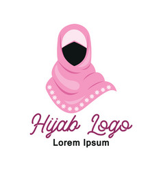 hijab logo with text space for your slogan vector image