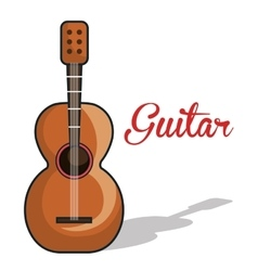 icon guitar mexican music graphic vector image