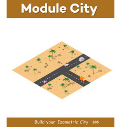 isometric modules for construction vector image